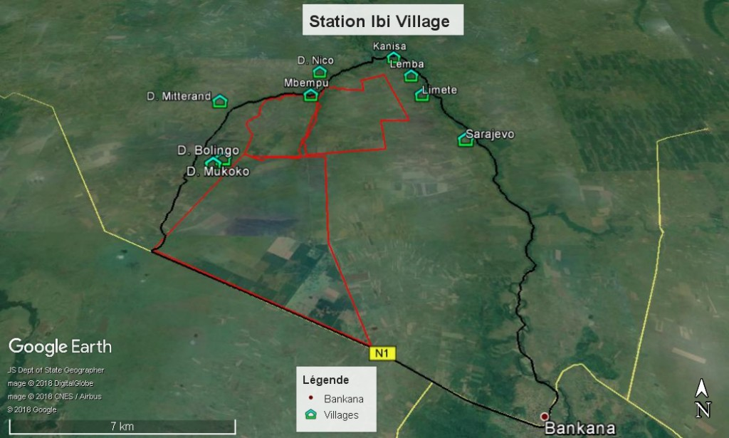Ibi Village - carte generale